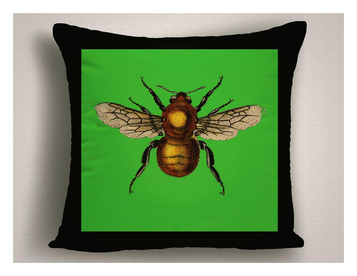 Insect Design Outdoor Pillows, Green Patio Pillow Cover, Insect Throw Pillow  For Patio, Decorative Outdoor Pillow Cushion
