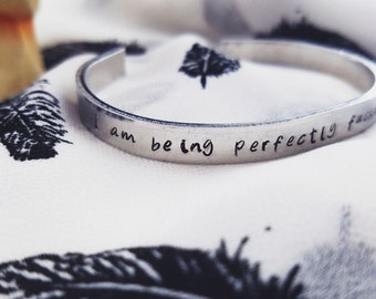 """The Raven Cycle [""""I am being perfectly f****** civil""""] bracelet"""