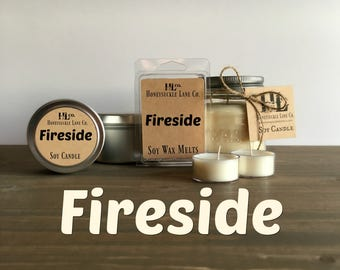 Fireplace candle Etsy
