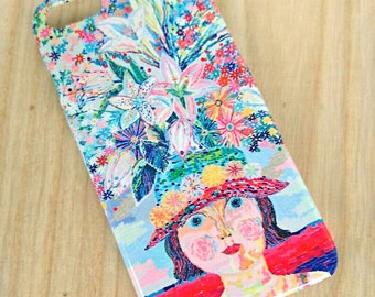 Flower hat girl     iPhone case