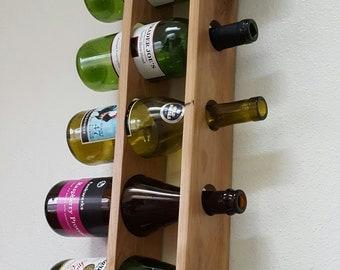 Reclaimed Pallet Wine Rack. Wall Mounted Vertical Wine Rack.