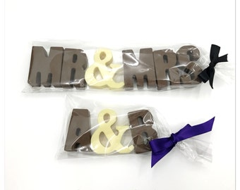 Wedding Favour Belgian Chocolate Letters, Cake Topper, Handmade Favour