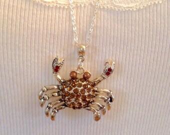 Crab necklace.