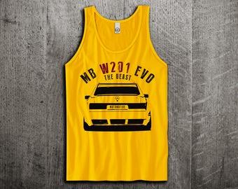 Mercedes Tank Top, benz W201 vintage shirts, classic cars shirts, cars tanks, benz cars shirts, mercedes tank tops, Unisex amg tank tops
