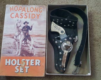 1950s Hopalong Cassidy Cap Gun & Holster set in Orig. Box
