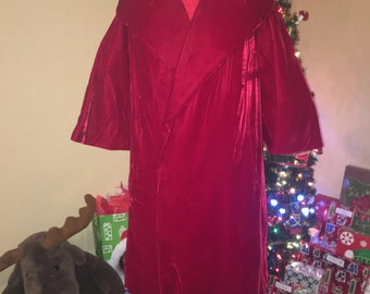 RESERVED AMAZING 60s Red Velvet Coat!