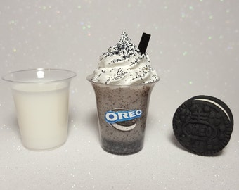 "Oreo Drink & Cookie Set for American Girl 18"" Doll BJD 1/3 1/4"