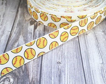 "Baseball ribbon - Glitter ribbon - Baseball season - 7/8"" Grosgrain ribbon - DIY baseball bow - DIY baseball lanyard - DIY baseball headband"