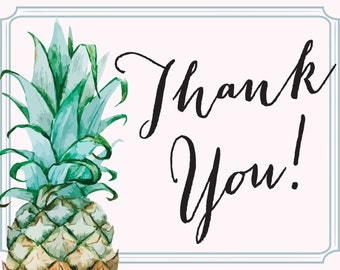 Pineapple Thank You Card - Digital Download