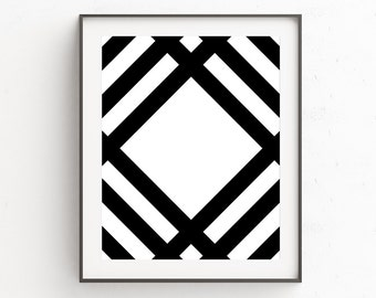 Tribal Wall Prints, Above Bed Art, Above Bed Wall Decor, Gallery Wall Decor, Art Print Above Bed, Black and White, Geometric Art, Printable
