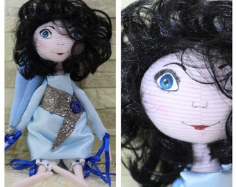 HandMade Tilda Girl Doll Gift Home Decoration Textile From ISRAEL 41 cm.