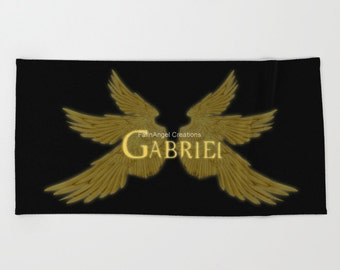 Supernatural Gabriel with Wings Beach Towel, Bath Towel, and Hand Towel! You Choose! Archangel