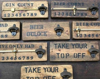 Beer bottle opener : Hand made in UK, ideal gift for the man cave.