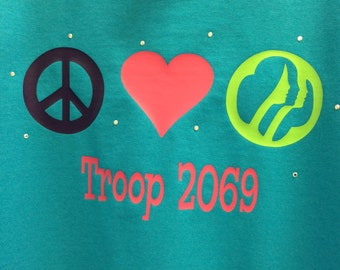 Peace Love Girl Scout Shirt