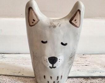 Ceramic Wolf Totem