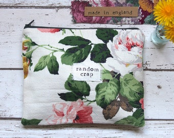Random Crap - Fun / Lighthearted Floral Zip Pouch