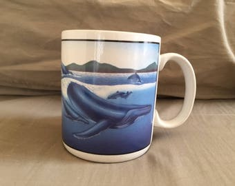 Vintage Humpback Whale Mug
