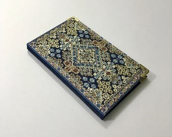 Notebook / Journal / Covered with Fabric / Ottoman pattern