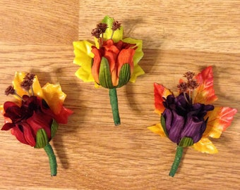 Fall treasures boutonniere