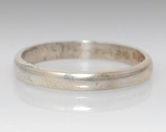 Vintage Sterling Silver Band - Size 10.75