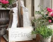 12x6 Hello Spring HandPai...