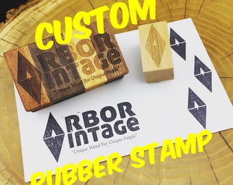 Custom Rubber Stamp with your Logo or Text