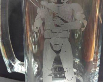 Star Wars Etched Beer Stein Mug Storm Trooper