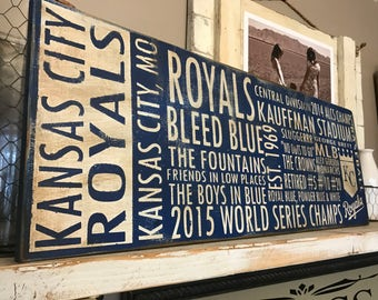 Kansas City Royals Aged Subway Sign