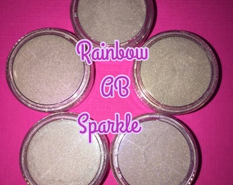 5 Jars Of Sparkling AB Rainbow Craft Mica Pigment Powders Craft Resin Polymer Clay