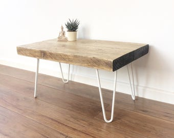 Industrial reclaimed wood side/coffee table