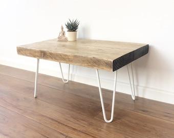 Industrial reclaimed wood side/coffee table