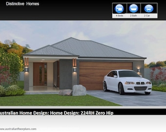 2486 sq feet  | 231m2 | 4 Bed 2 Bath | narrow lot |  4 Bedroom australian floor plan | house designs australia | 4 bed + 2 bath + 2 car plan