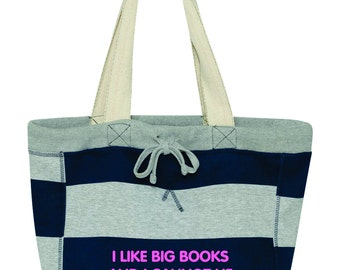 I Like Big Books and I Cannot Lie Tote Bag, Gift for Her. 3394