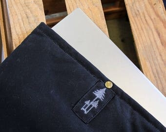 Waxed canvas Laptop Sleeve // tex-wax cotton duck canvas // 13'' and 15'' laptop options