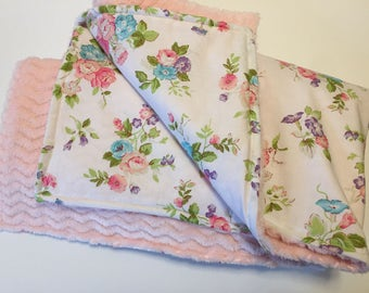 Baby Girl Snuggle Blanket | Child throw | Floral print toddler blankie | Baby Bedding | Baby Gift | | Newborn Cuddle Blanket