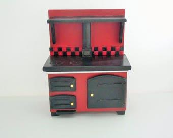 doll house furniture , miniature furniture, 12th scale furniture, miniatures, doll house cooker,