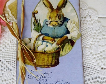 Easter gift Easter wooden postcards Vintage style card Victorian Easter card Gift for mother Gift for grandpa Gift Idea easter Easter decor