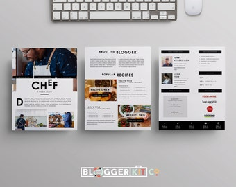 Media kit template for bloggers influencers press kit three page media kit template press kit template electronic press kit instant pronofoot35fo Image collections