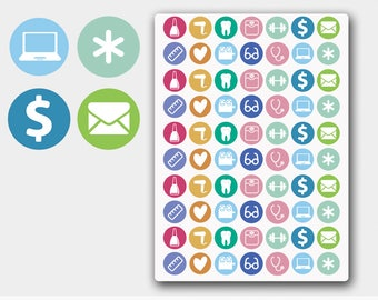 Icon Planner Sticker, Circle Stickers, Icon Kit, Circle Icon, Circle Icon Sticker, Multi Icons, Erin Condren Icons, Happy Planner Icon