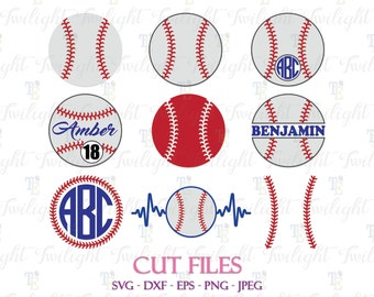 Baseball Cut Files, Baseball SVG Files, Baseball DXF File, Baseball Laces Svg Cut Files, Softball Svg Cut Files, Baseball Stripes Svg 0069