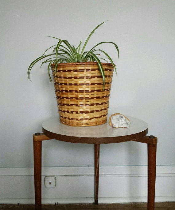 Rattan planter waste basket trash bin wicker basket wicker - Wicker trash basket ...