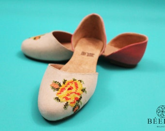 Embroidered Shoes - Mexican - Floral
