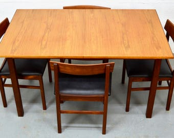 Mid-Century Teak Table and Chairs by Gordon Russell