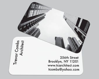 Modern Buildings BUSINESS CARD / Architect Calling Card / Custom Contact Card / Black & White Photography