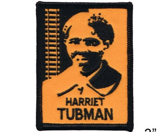"Harriet Tubman Iron On Patch 3"" x 2 1/2"" Free Shipping by Dave Cherry 2712"