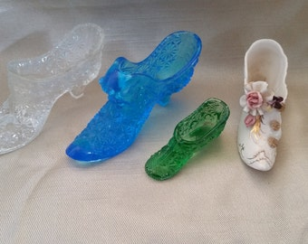 Vintage Glass and Ceramic Shoe collection