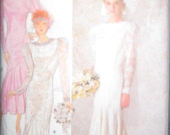 Pattern Butterick 4415 wedding dress size 8-12 years VINTAGE 1986