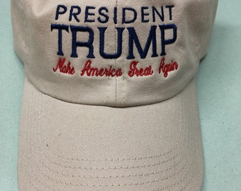 Embroidered President Donald J Trump Make America Great Again Hat