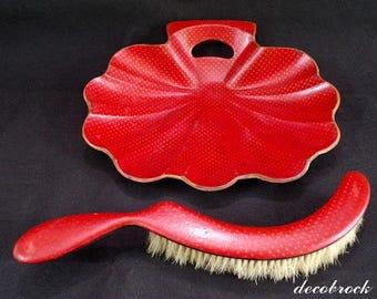Pick up crumbs napoleon III in paper mache red monsoon vintage France vintagefr bridge