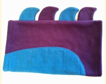 Dog Snood Neckwarmer Greyhound Fleece Snood Hood Dog Scarf - Purple Crocodile
